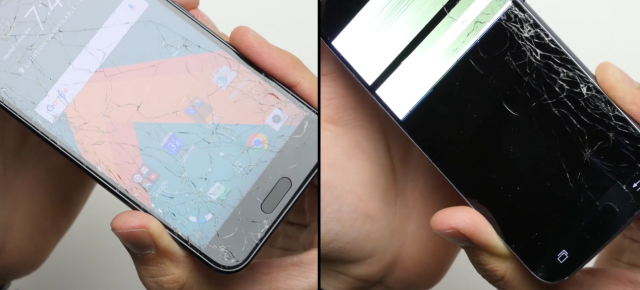HTC 10 versus Samsung Galaxy S7 într-un drop test dur: sticla cedează prima (Video)