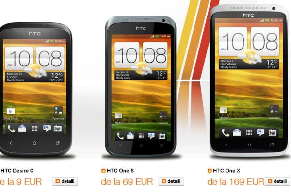 Oferta Orange pentru HTC Desire C, HTC One S și HTC One X