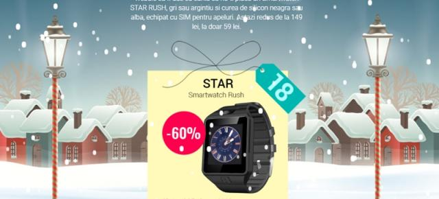 QuickMobile are un nou smartwatch la 59.99 lei! Star Rush aduce slot SIM și cameră de 1.3 mpx