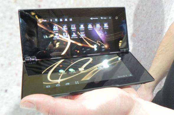 MWC 2012: Sony Tablet P preview și hands on - tableta dual display cu certificare PlayStation (Video): dscn0744jpg.jpg