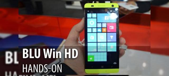 MWC 2015: BLU Win HD hands-on - telefon colorat şi accesibil, cu Windows Phone 8.1 (Video)