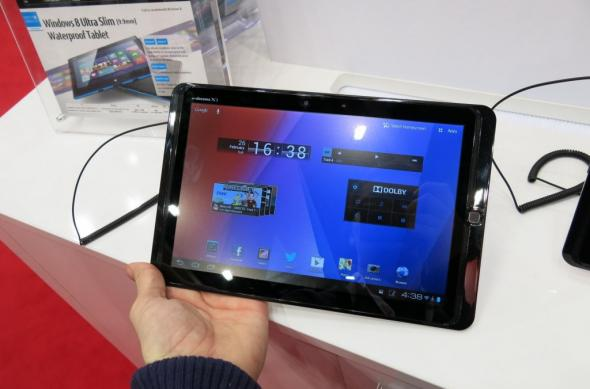 MWC 2013: Fujitsu Arrows Tab hands on - o tabletă cu o über baterie și difuzoare uriașe (Video): fujitsu_arrows_tab_03jpg.jpg
