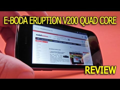E-Boda Eruption V200 Quad Core review Full HD în limba română - Mobilissimo.ro