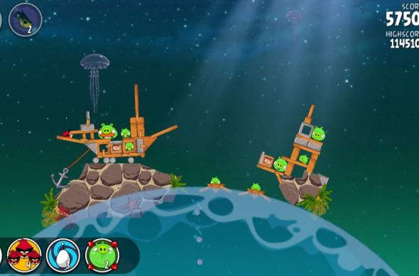 Angry Birds Space Pig Dipper review: 30 de nivele noi, gravitația Întâlnește gameplay-ul acvatic (Video): screenshot_2013_01_11_20_02_56.jpg