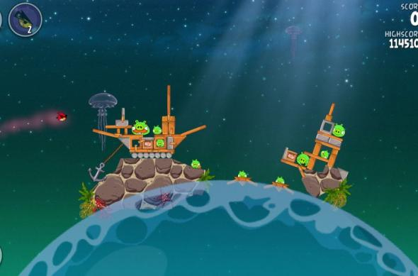 Angry Birds Space Pig Dipper review: 30 de nivele noi, gravitația Întâlnește gameplay-ul acvatic (Video): screenshot_2013_01_11_20_02_46.jpg
