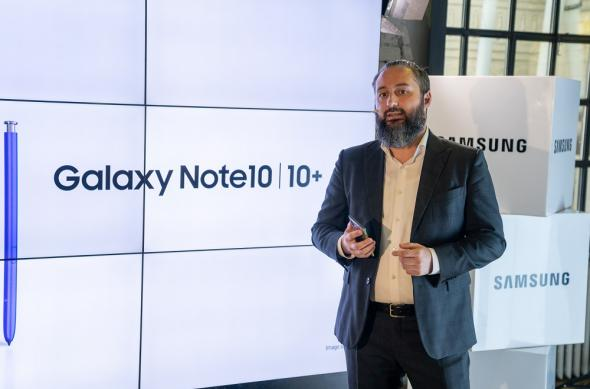 Samsung Galaxy Note 10 - Eveniment lansare în România: Alex Costache, Head of  Telecom Product Management.jpg