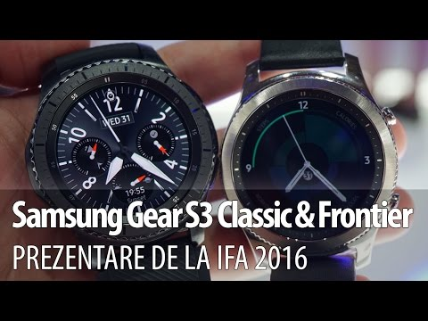 Samsung Gear S3 Frontier prezentare video Hands-on de la IFA 2016 din Berlin