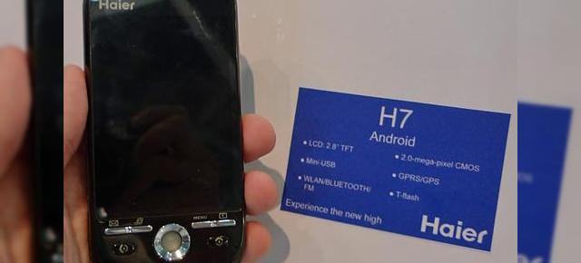 Haier va lansa telefonul Android H7 in septembrie