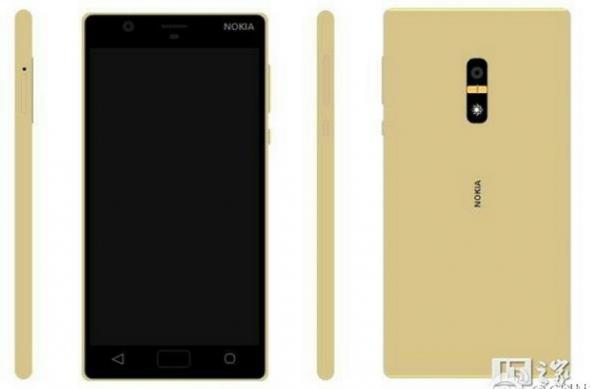 Imagini 3D Nokia D1C (randări): Nokia-D1C-in-Gold-with-a-fingerprint-scanner-on-the-back.jpg