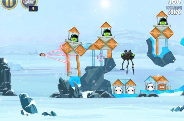 Angry Birds Star Wars Hoth Update review: prințesa Leia, roboți patrupezi și multă distracție! (Video): ipad_mini_screenshot_40.jpg