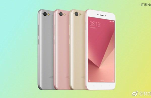 Leak Xiaomi Redmi Note 5A