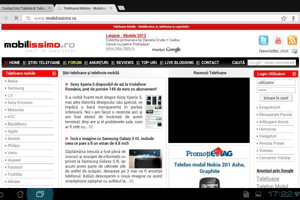 Chrome for Android review - sincronizare perfectă cu PC-ul pentru taburi/bookmarkuri (Video)