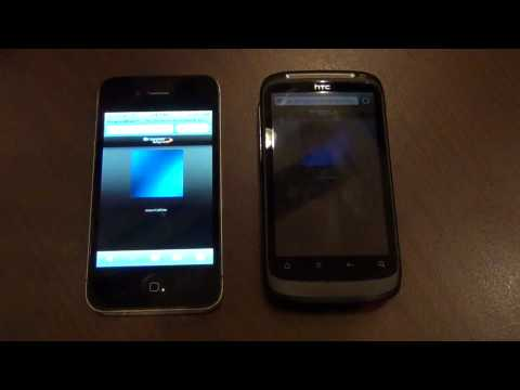 iPhone 4 versus HTC Desire S - Test Browsermark @ iMeetup 2011